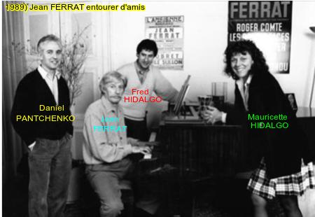 1989) Jean FERRAT entourer d'amis