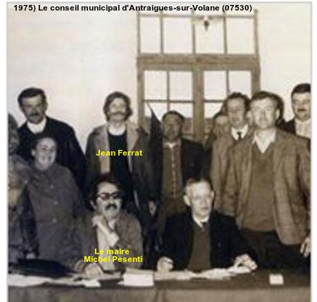 1975) Le conseil municipal d'Antraigues-sur-Volane (07530)