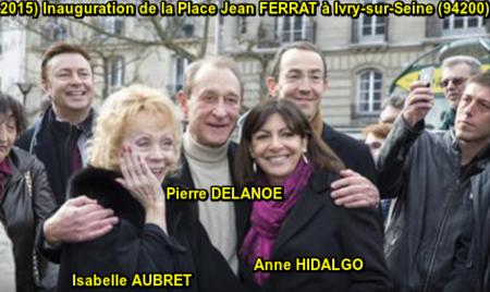 2015) Inauguration de la Place Jean FERRAT à Ivry-sur-Seine (94200)