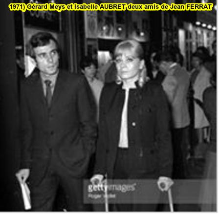 1971) Gérard MEYS et Isabelle AUBRET deux fidèles amis