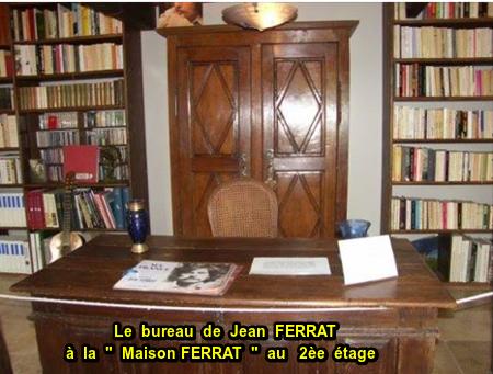 """2013)  Inauguration de la """" Maison Jean FERRAT """" - Bureau + Bibliothèque (2ème étage) - le 12 Mars 2013 à Antraigues (07530)"""