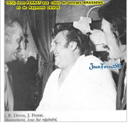 1972)  Jean FERRAT aux côtés de Georges BRASSENS et Raymond DEVOS