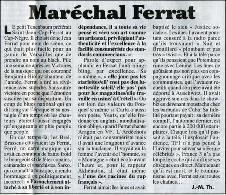 Maréchal FERRAT