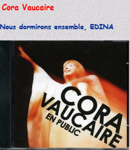 Cora VAUCAIRE chante FERRAT - Nous dormirons ensemble