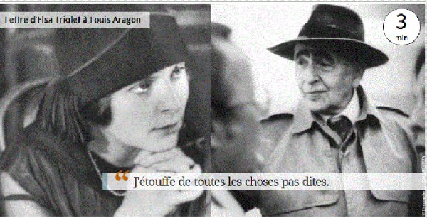 Lettre d'Elsa TRIOLET à Louis ARAGON
