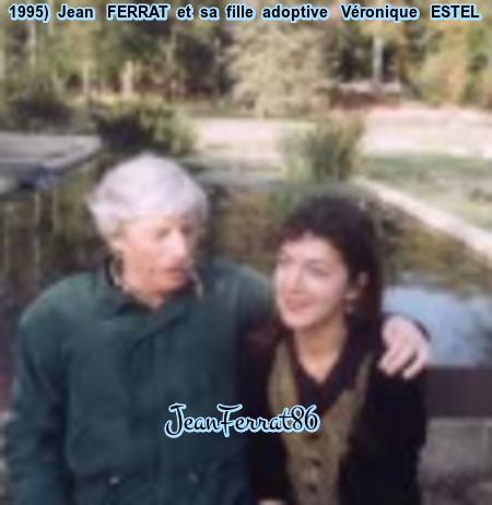 1995)  Jean FERRAT et sa fille adoptive Véronique ESTEL
