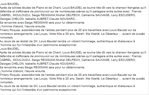 Louis BAUDEL chante FERRAT - On ne voit pas le temps passer