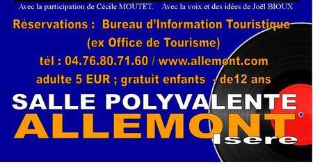 Spectacle Jean d'ici FERRAT le cri à Allemont (38114) le 18 mars 2017