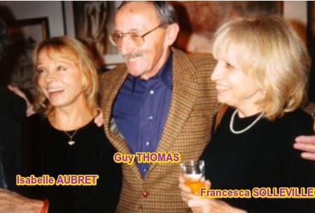 1991)  Isabelle AUBRET + Guy THOMAS (parolier de Jean FERRAT) + Francesca SOLLEVILLE