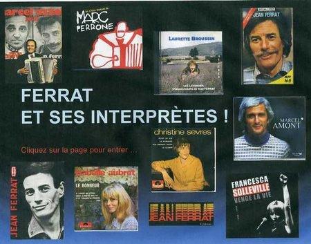 Jean FERRAT et ses interprètes