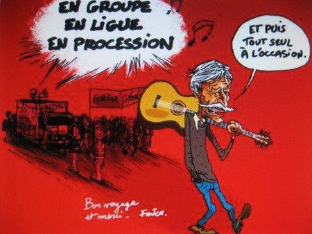 BD + Caricature + Peinture de Jean FERRAT