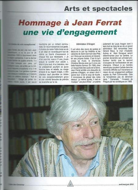 2010)  HOMMAGE A Jean FERRAT