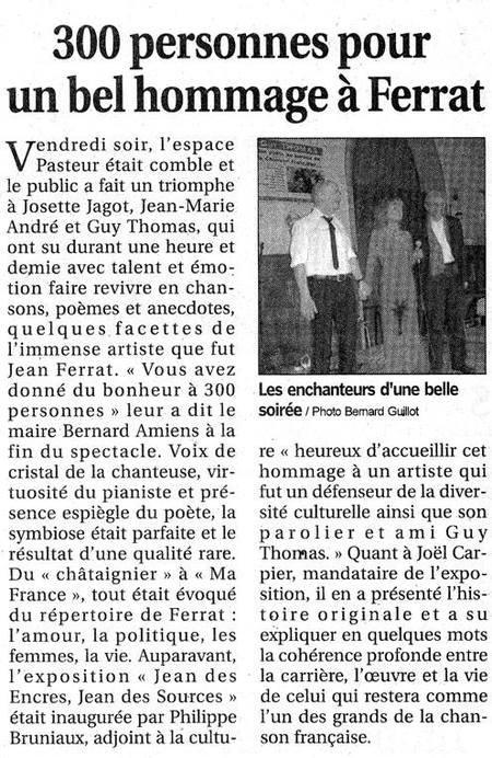 2017) Article de presse sur Jean FERRAT