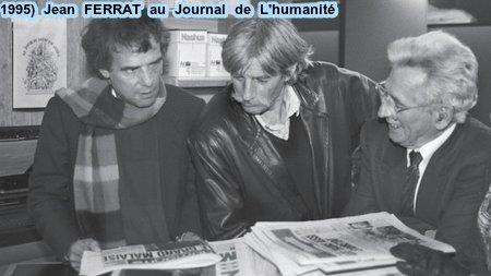 1995)  Jean FERRAT au siège du Journal L'humanité à Saint-Denis (93200)