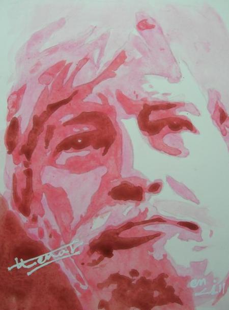 Caricature de Jean FERRAT  ( Trouver sur le net)