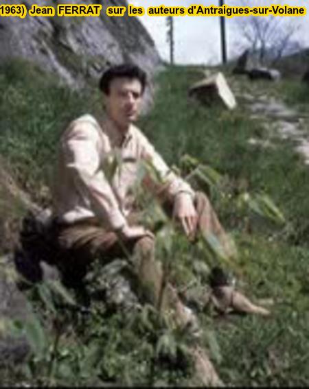 1963)  Jean  FERRAT  sur les hauteurs d'Antraigues-sur-Volane (07530)