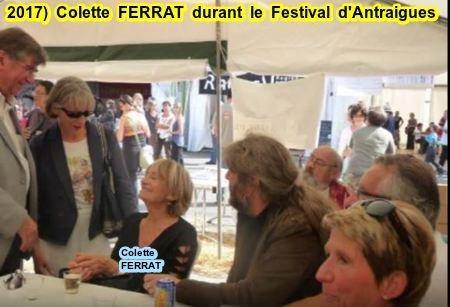 2017) Colette FERRAT durant le Festival Jean FERRAT à Antraigues