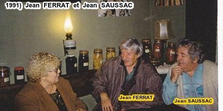 1991)  Jean FERRAT et Jean SAUSSAC chez une amie à Antraigues