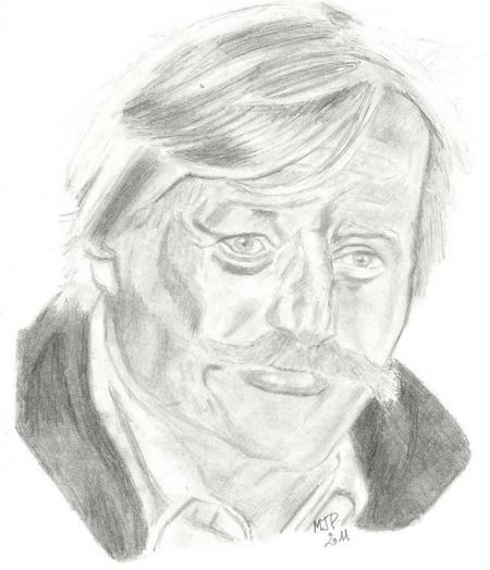 Caricatures de Jean FERRAT au crayon noir ( Trouver sur le net...MERCI aux créateurs et créatrices)