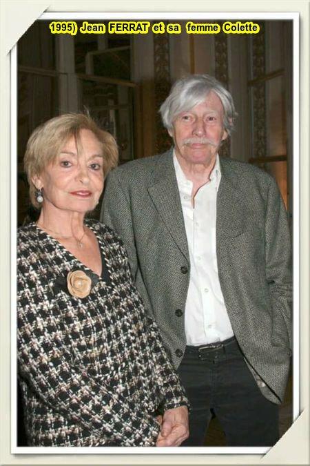 1995)  Jean FERRAT et sa femme Colette