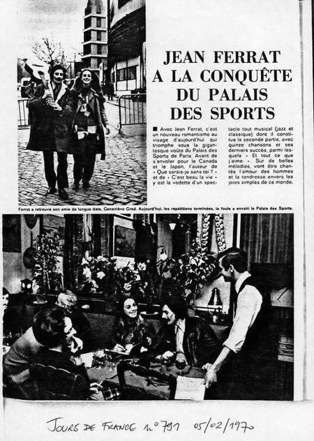 1970)  Article de presse Sur Jean FERRAT