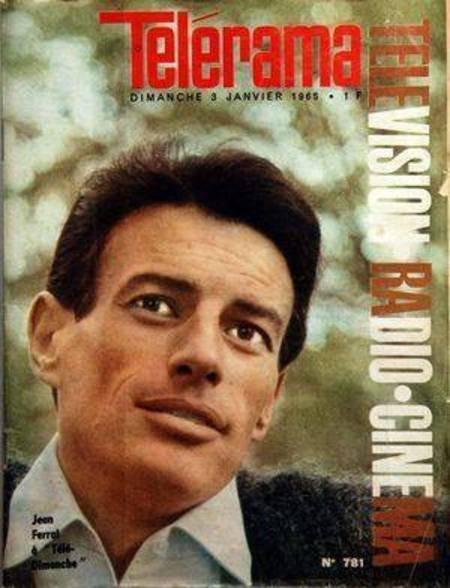 1965)  Jean FERRAT en couverture de Télérama