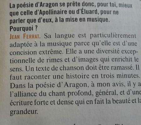1994)  La poésie jaillissante d'ARAGON ma sauté au visage