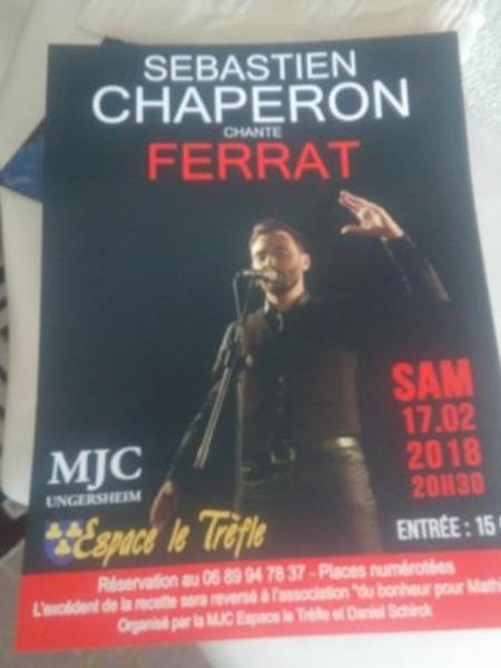 2018)  Sébastien CHAPERON chante FERRAT à UNGERSHEIM (68190)