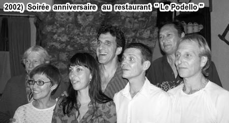 2002)  Sur la photo de droite à gauche Jean FERRAT,DINO,Michel PESANTI, SHIRLEY,Jean-Michel AUBERT