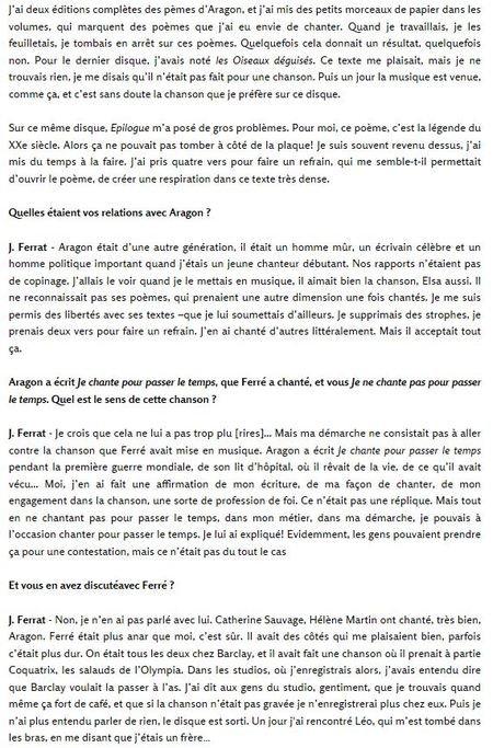 2001) ARTICLE PARU DANS ROUGE N°-1921/ 03.05.2001/  PROPOS RECUEILLI PAR NAOUFEL , JOEL.F, VOLSON et LAURE FAVIERES