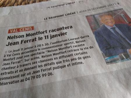 2017)  Nelson MONTFORT racontera Jean FERRAT