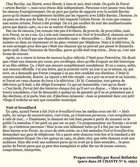 1991) Gérard MEYS ami et producteur de Jean FERRAT
