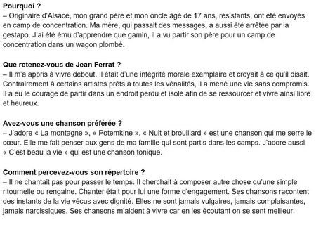 """2015)  Henry-Jean SERVAT :  """" Jean FERRAT a vécu une vie sans compromis """""""
