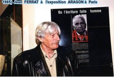 1985)  Jean FERRAT à l'exposition ARAGON à paris