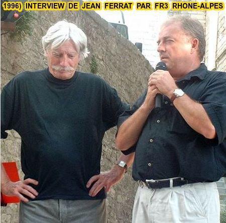 1996)  INTERVIEW DE JEAN FERRAT PAR FR3 RHONE-ALPES A ANTRAIGUES-SUR-VOLANE