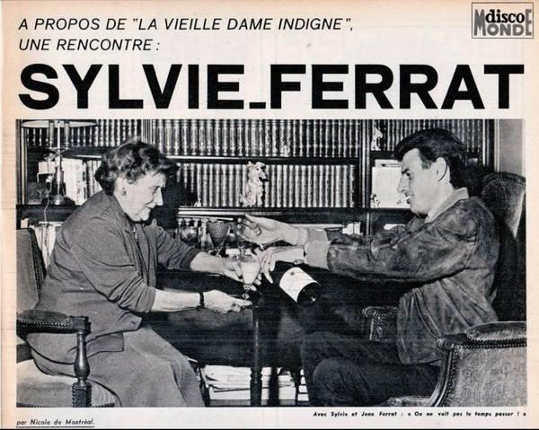 """1965)  Extrait du film """" La vieille dame indigne """" + musique du film de Jean FERRAT   """" on ne voit pas le temps passer  """""""