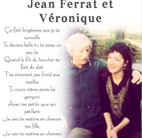 2001) Jean FERRAT et  Véronique (sa fille adoptive)