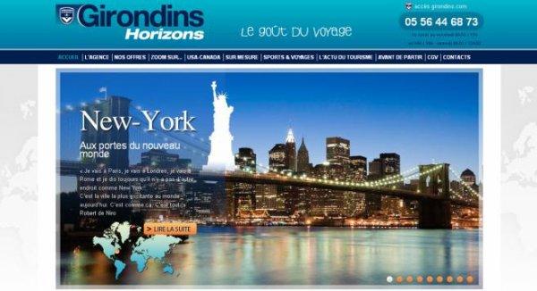 Site girondins horizons s 39 affiche l 39 agence de voyages for Agence de bouard la maison des voyages