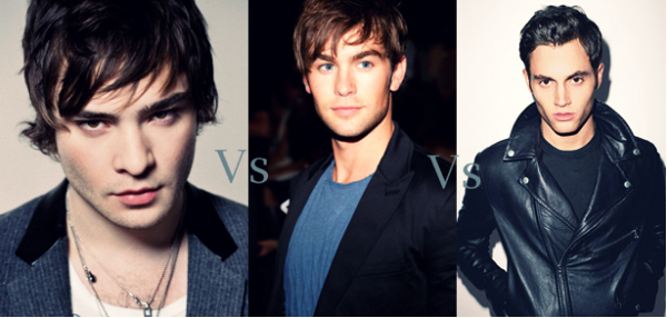 Ed Westwick vs Chace Crawford vs Penn Badgley.