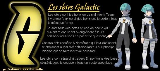 Présentation de la Team Galactic