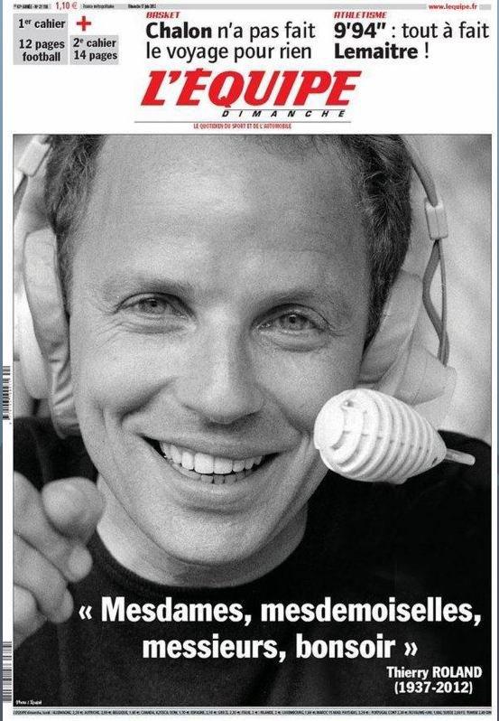 Pour ceux qui suivent le foot : Disparition de Thierry ROLAND !  1937-2012.