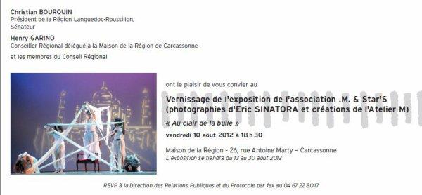 """Exposition """"Au Clair de la Bulle"""" .M.&Star'S et Atelier.M."""