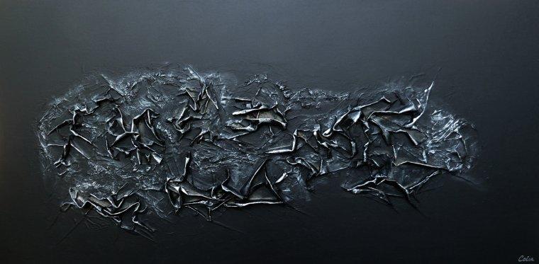 Articles de sandrinecolin tagg s tableau peinture acrylique abstrait qu - Peinture effet relief ...