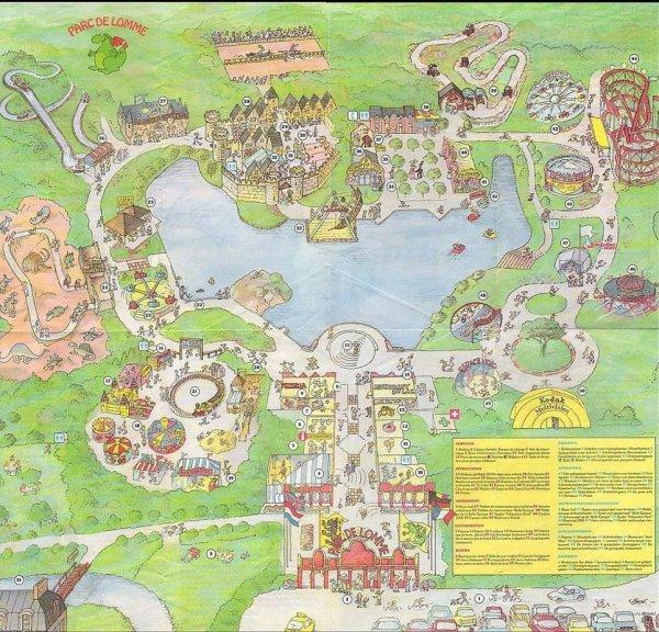 plan a l'epoque du parc