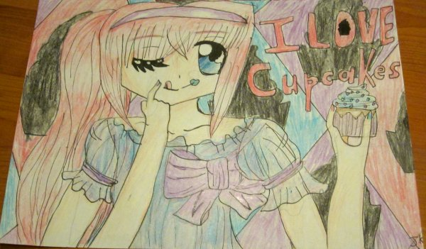 Dessin n°4  ✮≈ Cupcake girl! ≈✮