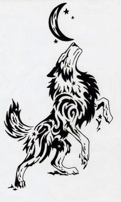 Dessin loup tribal pour les fans de d gray man ainsi que - Dessin loup facile ...