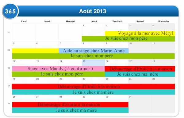 Planning de vacances