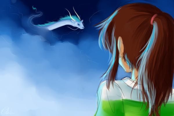Fiction n°20: Un autre voyage pour Chihiro ( Le voyage de Chihiro - Chihiro/Haku  )
