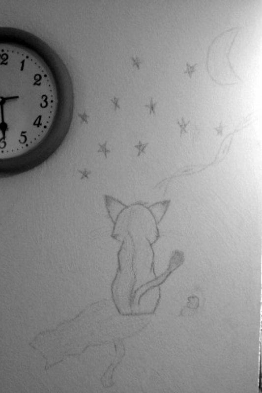 Hihi dessin sur mon murs :le pauvre xD: