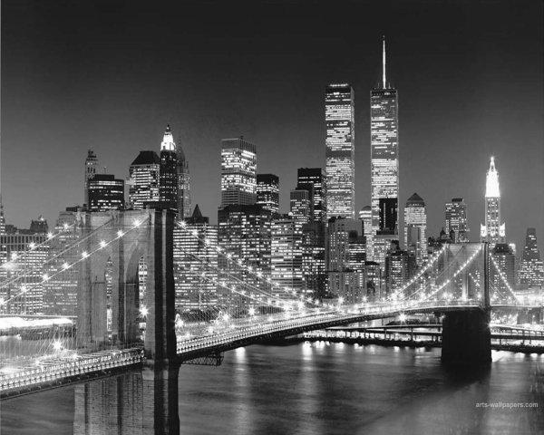 Broderie Point De Croix En Cours Paysage De New York